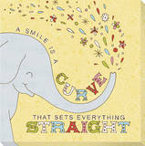 Elephant - a Smile Is a Curve Stretched Canvas Print by Jen Skelley