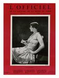 L'Officiel, October 1926 - Princesse Voskonsky en Drecoll Premium Giclee Print by  Scaioni