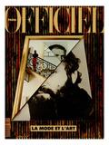 L'Officiel, December 1990-January 1991 - Retratto Di Gianni Versace 1989 Plakater af Peter Klasen, et al, Miguel Chevalier