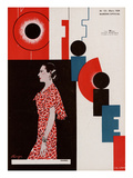L'Officiel, March 1934 - Chanel Premium Giclee Print by Lbengini & A.P. Covillot