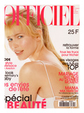 L'Officiel, May 1996 - Claudia Schiffer Lance un Programme de Remise en Forme Prints by Francesco Scavullo