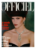 L'Officiel, December 1986 - Cerrilyn Prints by Terence Donovan