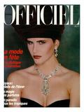 L'Officiel, December 1986 - Cerrilyn Prints by Terence Donovan