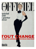 L'Officiel, August 1992 - Daniela Pestova en Karl Lagerfeld Prints by  Hiromasa