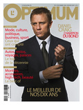 L&#39;Optimum, d&#233;cembre 2006 - janvier 2007 : en couverture, Daniel Craig habill&#233; Par Brioni, montre Omega Posters