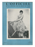 L&#39;Officiel, January 1927 - Marjorie Moss en Robe de Worth Prints by  Madame D&#39;Ora