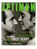 L'Optimum, March 1999 - Patrick Timsit et Richard Berry Portent Des Pulls Col V Hermès Posters by Marcel Hartmann