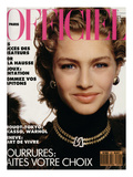 L&#39;Officiel, November 1989 - Michaela Porte une Pelisse d&#39;Yves Saint Laurent Poster by  Hiromasa