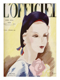 L'Officiel, February 1937 - Paille Tresse Perlinade A. MICHEL et Ci Print by  Lbenigni