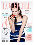 L'Officiel, April 2011 - Anna Mouglalis Porte une Robe en Toile de Coton Prada Posters by Thomas Nutzl