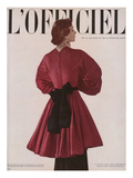 L'Officiel, Christmas 1948 - Robe du Soir de Grès en Taffetas Posters by Philippe Pottier