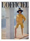 L'Officiel, June 1964 - Ensemble de Pierre Cardin en Toile Fibranne de Staron Posters by Philippe Pottier