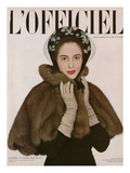 L'Officiel, Autumn - Cape de Zibeline, Fourure Max A. Leroy, Chapeau de Paulette Posters by Philippe Pottier