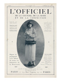 L'Officiel, December 15 1921 - Mlle Soria, Robe de Marshal&Armand Art by  Delphi