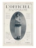 L'Officiel, December 15 1921 - Mlle Soria, Robe de Marshal&Armand Premium Giclee Print by  Delphi