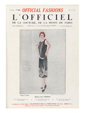 L'Officiel, April 1925 - Mme Elvire Popesco Poster by Rahma