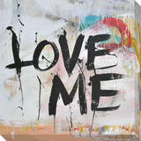 Love Me Stretched Canvas Print
