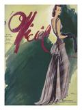 L'Officiel, August 1939 - Marçelle Dormoy Kunstdruck von  Lbenigni