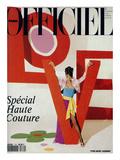 L'Officiel, March 1992 - Love, Le Mot Fétiche d'Yves Saint Laurent Premium gicléedruk van Jonathan Lennard