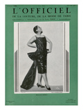 L'Officiel, December 1926 - Mlle Spinelly en Louiseboulanger Poster by  Madame D'Ora