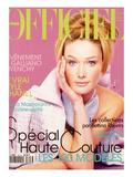 L'Officiel, March 1996 - Caria Bnini dans un Ensemble Christian Lacroix Haute Couture Premium gicléedruk van Bruno Bisang