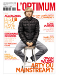 L&#39;Optimum, April 2011 - Owen Wilson Porte une Doudoune en Nylon Moncler Prints by Patrick Fraser