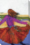 Dancing Girl Stretched Canvas Print