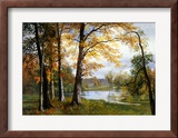 A Quiet Lake Framed Giclee Print by Albert Bierstadt