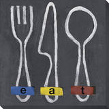 Eat Stretched Canvas Print
