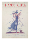 L&#39;Officiel, July 1924 - Robe d&#39;Apr&#232;s-Midi Tr&#232;s Fleurie Prints by Jeanne Lanvin