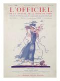L'Officiel, July 1924 - Robe d'Après-Midi Très Fleurie Prints by Jeanne Lanvin
