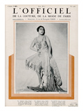 L'Officiel, May 1926 - Mlle Madeleine Soria en Martial & Armand Prints by  Madame D'Ora