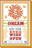Dream with Your Eyes Wide Open Stretched Canvas Print