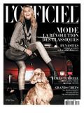 L'Officiel, October 2009 - Hana Porte un Blouson en Lainage Imprimé Prince-De-Galles Poster by Doug Inglish
