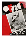 L'Officiel, June 1933 - Mle Jacqueline Shatelin Posters by Madame D'Ora & A.P. Covillot