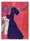 L'Officiel, October 1938 - Robert Piguet Print by  Lbenigni