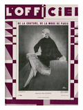 L'Officiel, October 1927 - Hélène Ostrowski Poster by Madame D'Ora
