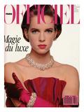 L'Officiel, December 1988 - Nicola Porte une Robe-Bustier de Givenchy Posters by  Hiromasa