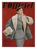 L'Officiel, October 1953 - Ensemble de Pierre Balmain, en Tweed de Rodier Print by Philippe Pottier