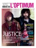 L'Optimum, November 2011 - Le Duo Justice, Xavier De Rosnay Plakater av Stefano Galuzzi