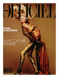 L'Officiel, March 1990 - Nathalie Bachmann Premium Giclee Print by David Wooley