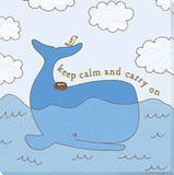 Blue Whale Stretched Canvas Print by Jen Skelley