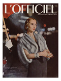 L'Officiel, December 1955 Premium Giclee Print by  Arsac