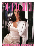 L&#39;Officiel, September 1990 - Yasmine, en Lanvin Par Claude Montana Art by Peter Strube