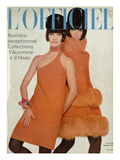 L'Officiel, September 1966 - Manteau et Robe de Pierre Cardin Art by  Guégan