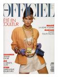 Gianpaolo Vimercati - L'Officiel, April-May 1991 - Meghan Habillée Par Chanel Boutique Umělecké plakáty