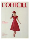 L'Officiel - Robe de Jean Lanvin Castillo en Satin Aléoutienne de Staron Art by Philippe Pottier