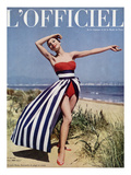 L'Officiel - Jacques Heim, Ensemble de Plage en Coton Print by Philippe Pottier