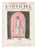 L'Officiel, August 1924 - Brumeuse Premium Giclee Print by Jean Patou