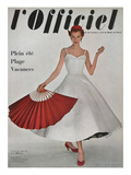 L'Officiel, June 1953 - Robe À Danser de Hubert de Givenchy en Shirting Empesé Poster par Philippe Pottier